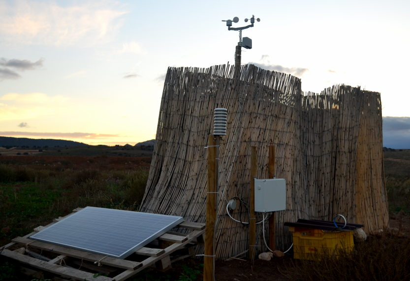 The weather station at Ecosystem Restoration Camp Altiplano, in late October 2018